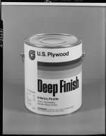 U.S. Plywood, can of Deep Finish wood finish