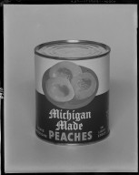National Food Company, canned Michigan Made peaches