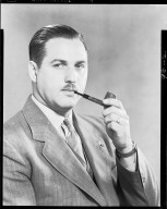 Portrait of man with pipe