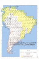 Index map of eastern South America 1:500,000