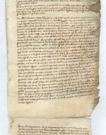 Cistercian Legal Roll, ca. 1330, Dispute between Abbey of Cambron and Canons of St. Vincent in Soignies