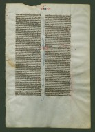 Parisian Pocket Bible Leaf, recto