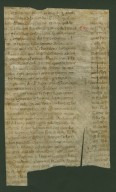 Fragment of a leaf from an Atlantic Bible, verso