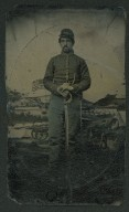 [Portrait of M. W. Wilcox, U. S. Civil War soldier portrait]