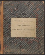 Journal of daily expenditure of oils, wicks, and chimneys at the South Haven Michigan light station on Black River