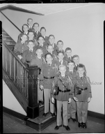Barbour Hall Junior Military Academy, group portrait of boys in uniform