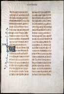 Leaf from the Bohun family bible