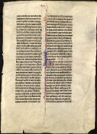 Leaf from a Mammoth Lectern Bible