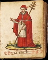 Iconography of fifty hand colored full-figure drawings of male and female members of religious orders in their habits