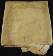 Will and Probate, 1700-1701, of Elizabeth Twywell, folded, front