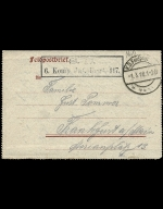 Paul Pommer correspondence, 1918-02-28, World War I