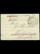 Paul Pommer correspondence, 1918-02-27, World War I