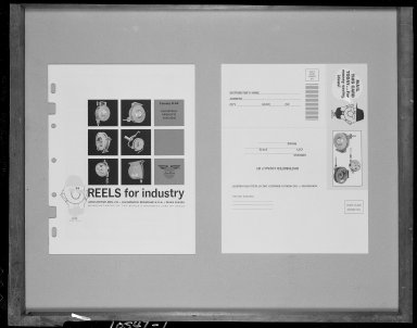 "Aero-Motive Manufacturing Company, ""Reels for Industry"", catalog cover for industrial reels"