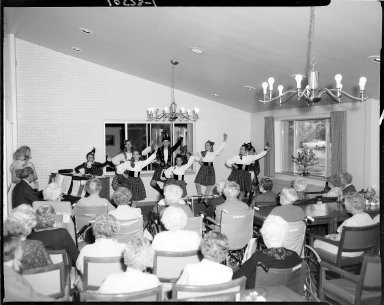 Harold and Grace Upjohn Community Nursing Home, young Scottish Dancers perform for residents