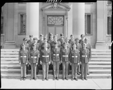 Barbour Hall Junior Military Academy, group portrait of graduates