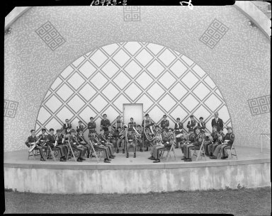 Barbour Hall Junior Military Academy, band in band shell