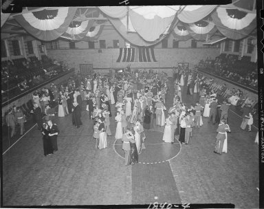Howe Military School dance, overhead view