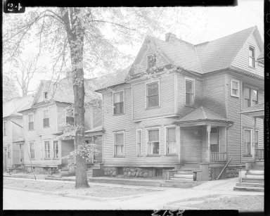 Older homes on Walnut Street, exteriors