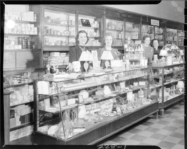 Van Avery's Drug Store, perfume counter