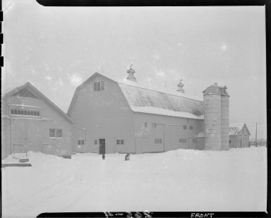 Consumers' Power Company, Niles and Cecil Hagelshaw Farm, barns