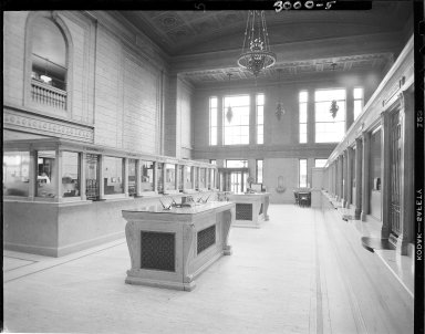 First National Bank, interior, lobby