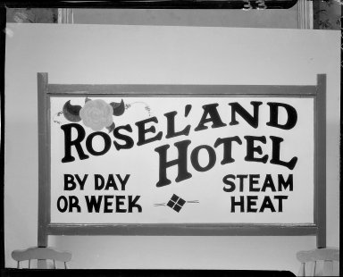 Rosel'and Hotel sign