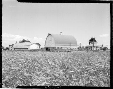 Sutherland Paper Company, farm field and barn
