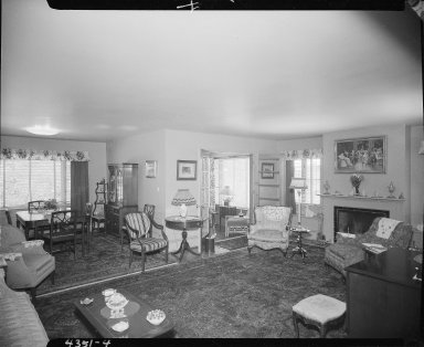 Miller Lumber Company, home interior, living and dining rooms