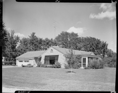 Miller Lumber Company, home exterior, brick ranch house with screen porch