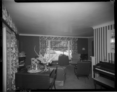 Miller Lumber Company, home interior, living room with piano