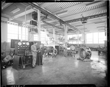Klose Electric Company, men on shop floor, Kalamazoo, MI