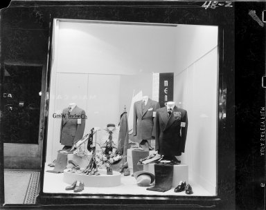 Geo. W. Taylor Co., menswear display window