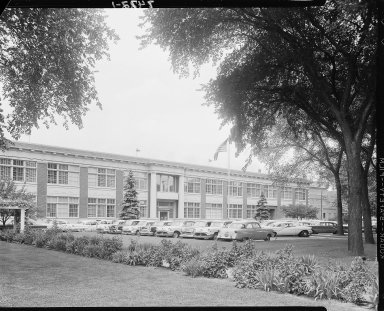 Sutherland Paper Company office building, exterior