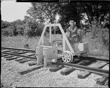 Railroad tie removing equipment