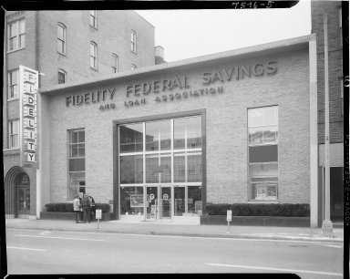 Fidelity Federal Savings, exterior, front view