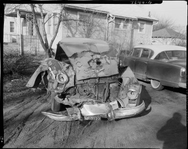 Oldsmobile Futuramic car, after accident