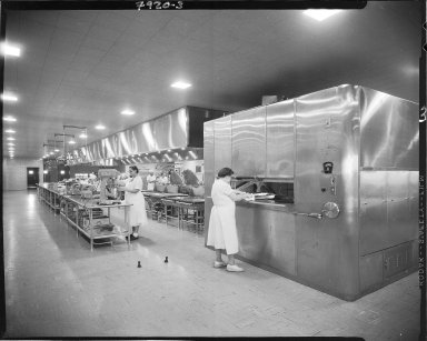 Western Michigan University, Bernhard Student Center, interior, cooks preparing food