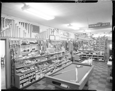 Miller Lumber Company, interior, hardware department