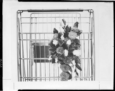 Shopping cart with flower display