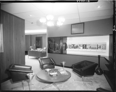 William John Upjohn Associates, interior, office