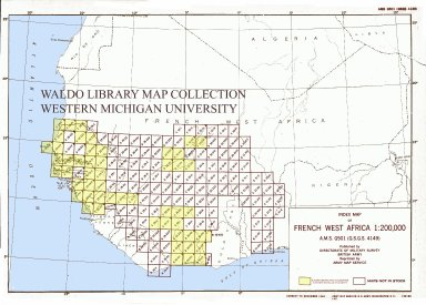 Index map of French West Africa 1:200,000