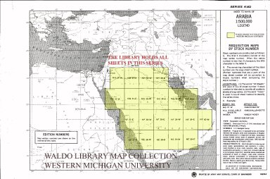 Index to maps of Arabia 1:500,000