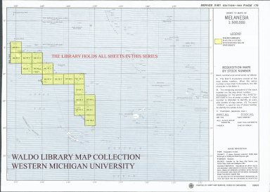 Index to maps of Melanesia 1:500,000
