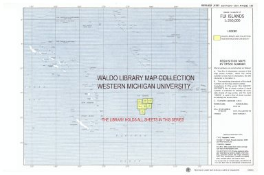 Index to maps of Fiji Islands 1:250,000