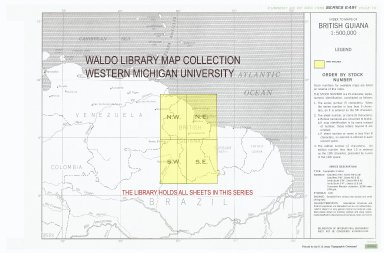 Index to maps of British Guiana 1:500,000