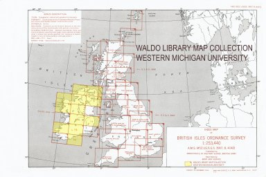 Index map of British Isles Ordnance Survey 1:253,440