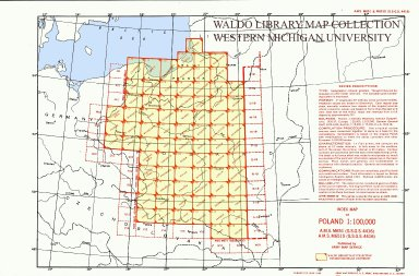 Index map of Poland 1:100,000