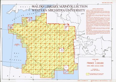 Index map of France 1:100,000