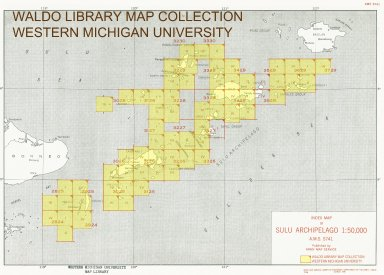 Index map of Sulu Archipelago 1:50,000