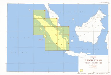 Index map of Sumatra 1:750,000